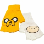 Adventure Time Finn Jake Fingerless Gloves