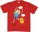 Adventure Time I'm On a Shirt Red Youth T Shirt