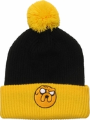 Adventure Time Jake Cuff Pom Beanie