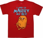 Adventure Time Marry My Bed T Shirt