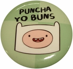 Adventure Time Puncha Yo Buns Button