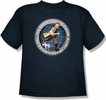 Adventures of Tintin Globe Youth T Shirt