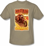 Adventures of Tintin Snakes T Shirt