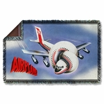 Airplane Poster Throw Blanket