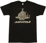 Airwolf Helicopter T Shirt Sheer