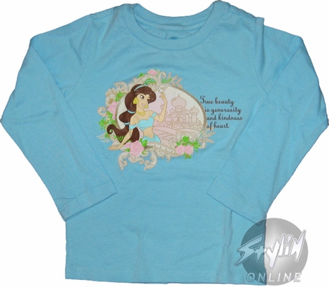 Aladdin Beauty Long Sleeve Youth T-Shirt