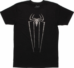 Amazing Spiderman Shimmer Logo T Shirt Sheer