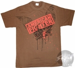 American Fighter Brown T-Shirt