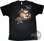 American Fighter Skull T-Shirt Sheer