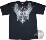 American Psycho Wings Cross T-Shirt