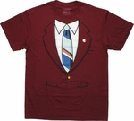 Anchorman Ron Burgundy Suit T Shirt