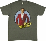 Anchorman Stay Classy T Shirt Sheer