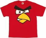 Angry Birds Face Youth T Shirt