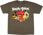 Angry Birds Open Beaks Youth T Shirt