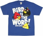 Angry Birds Word Youth T Shirt