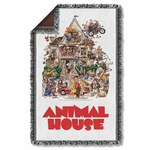 Animal House Poster Throw Blanket
