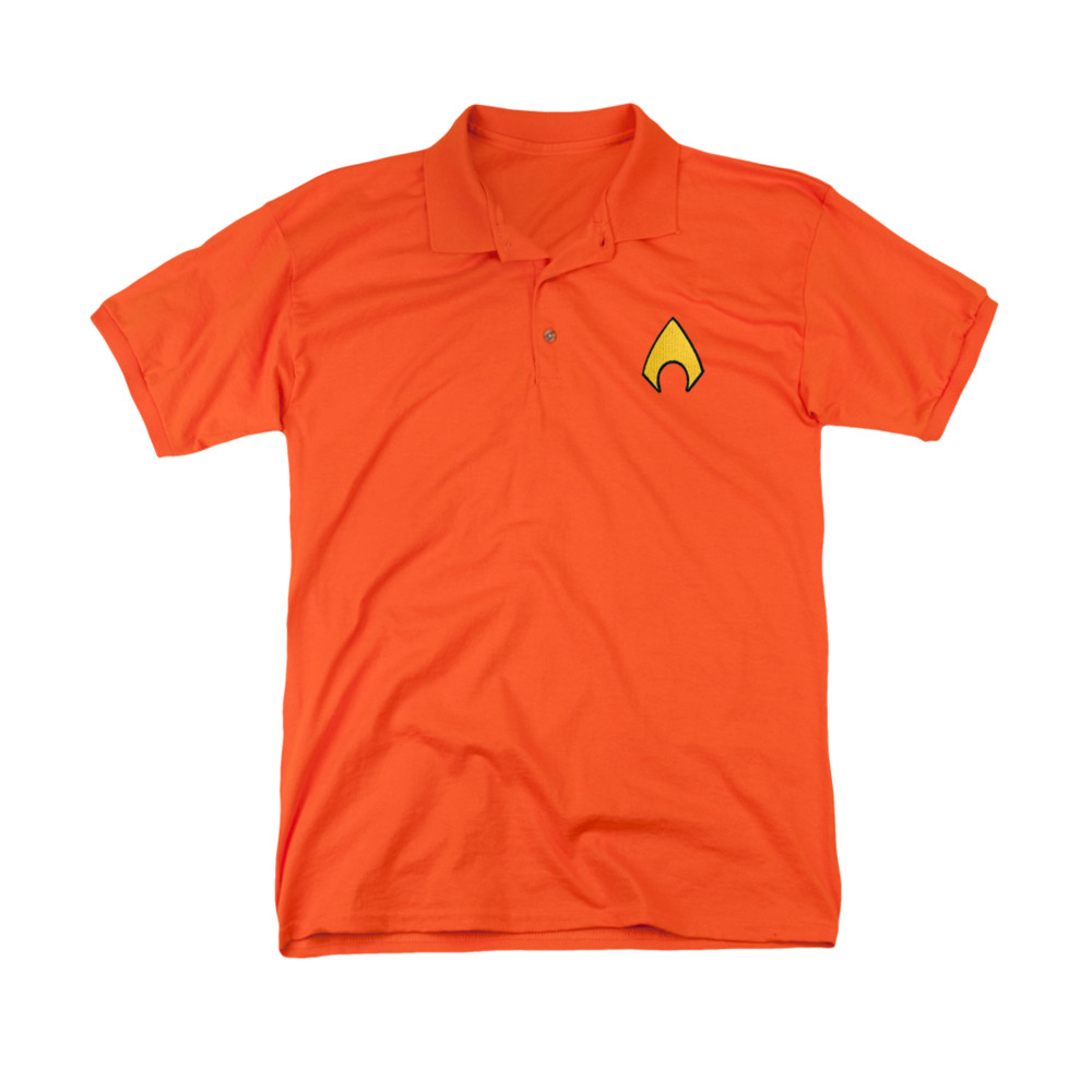 Aquaman Embroidered Logo Polo Shirt