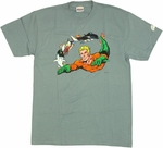 Aquaman Fish Trail T Shirt