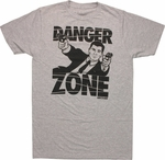 Archer Danger Zone Guns T Shirt Sheer