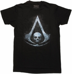Assassins Creed 4 Black Flag Symbol T Shirt Sheer