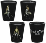 Attack on Titan Characters Shot Glass Set