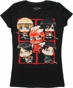 Attack on Titan Chibi SD Montage Baby Tee