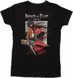 Attack on Titan Mikasa Titan Shield Baby Tee