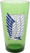 Attack on Titan Scout Crest Pint Glass