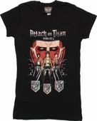 Attack on Titan Trio Crests Baby Tee