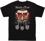 Attack on Titan Trio Crests T Shirt