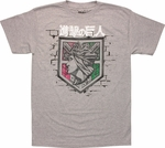 Attack on Titan Wall Rose T Shirt