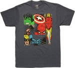 Avengers Action Collage T Shirt Sheer