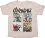 Avengers Age Ultron Quad Team Juvenile T-Shirt