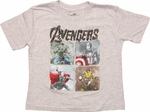 Avengers Age Ultron Quad Team Toddler T-Shirt