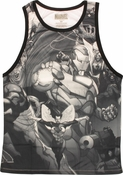 Avengers All Over Collage Sublimated Tank Top