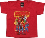 Avengers Assemble Bubble Red Toddler T Shirt