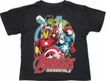 Avengers Assemble Group Juvenile T-Shirt