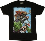 Avengers Assembled Rush T Shirt Sheer