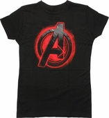 Avengers Black Widow Assemble Logo Juniors T-Shirt