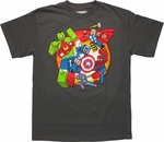 Avengers Blocky Group T Shirt