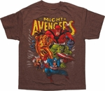 Avengers Classic Heather Brown Youth T Shirt