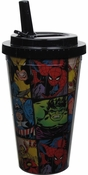Avengers Comic Grid Flip Straw Travel Cup