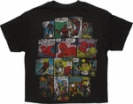 Avengers Comic Page Black Youth T Shirt
