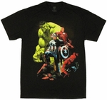 Avengers Comic Quad T Shirt