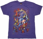 Avengers Eclipse Purple T Shirt
