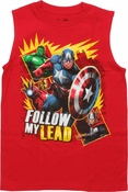 Avengers Follow My Lead Red Sleeveless Youth T Shirt