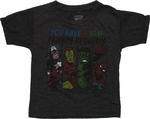 Avengers Friend Requests Charcoal Toddler T Shirt