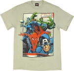 Avengers Group Vintage T Shirt