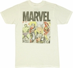 Avengers Hero Panels T Shirt Sheer