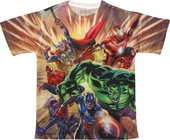 Avengers Heroes Assemble Sublimated T-Shirt